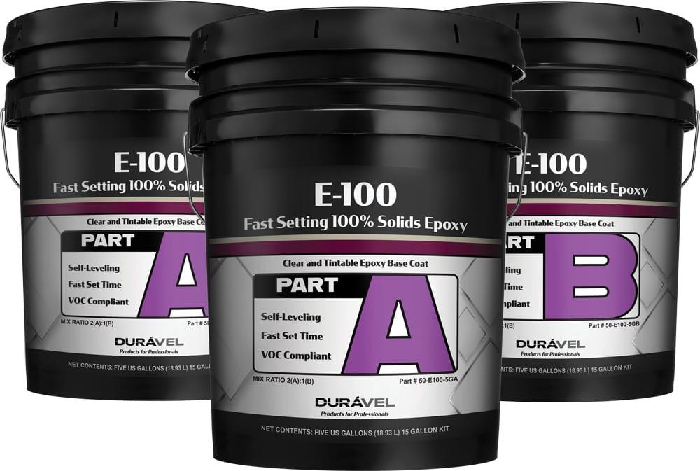 Clear Epoxy 100% Solids Floor Epoxy Product 15 Gallon Kit