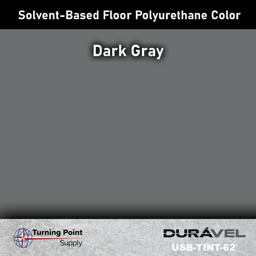 Dark Gray UV Stable Solvent-Based Floor Polyurethane Color Additive – USB-TINT by Duravel Products