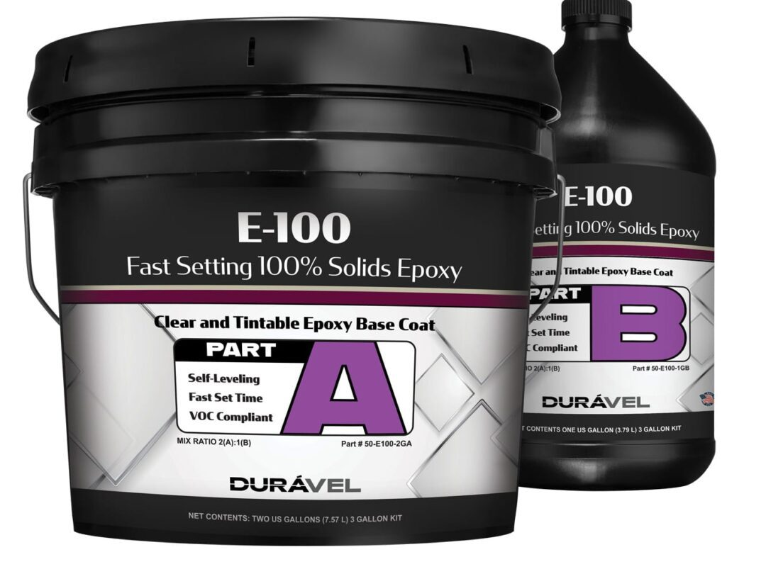 Fast Setting Floor Epoxy 100% Solids Clear and 14 Colors