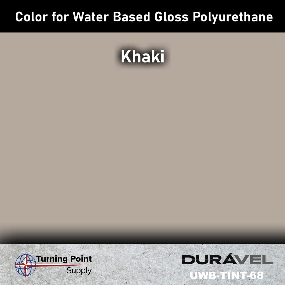 Khaki Color UWB-TINT is high solids pigment to be used specifically with loss floor polyurethane products. Available in six colors. Adding UWB-Tint will not alter the pot life or cure time of the polyurethane.