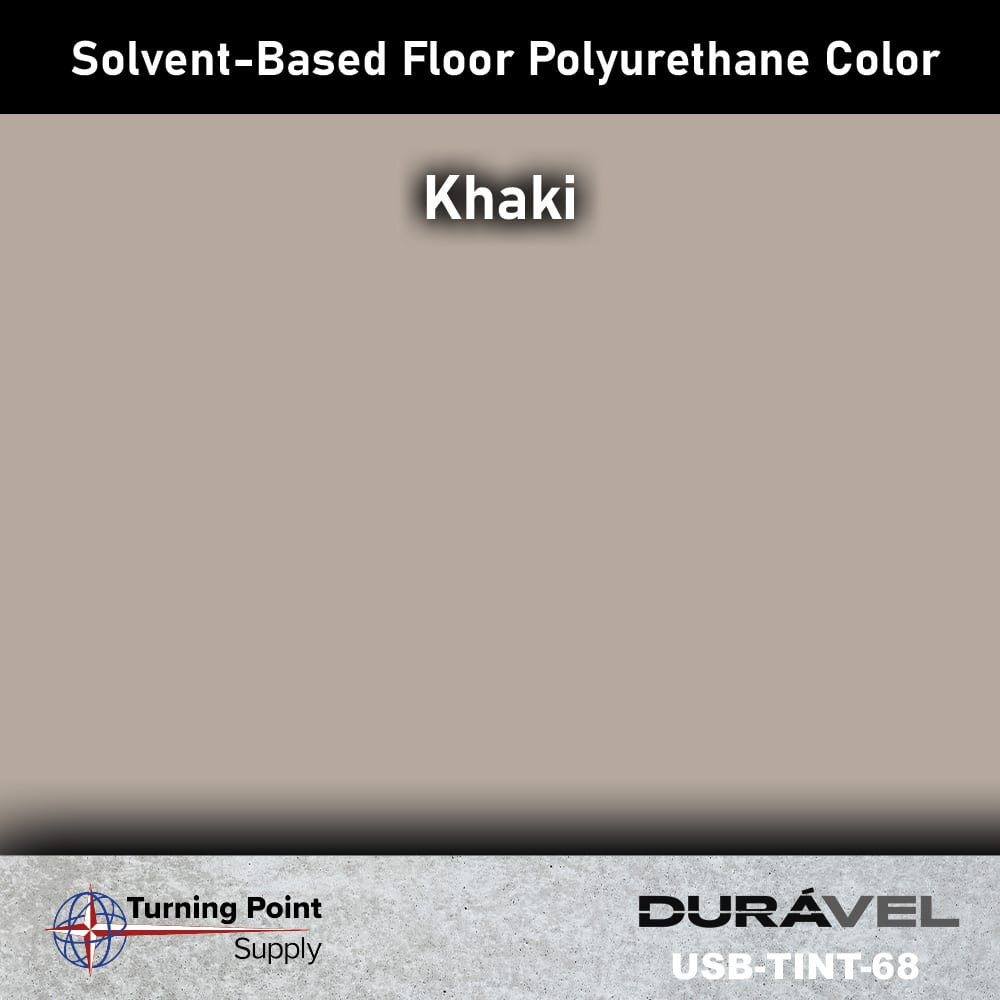 Khaki UV Stable Solvent-Based Floor Polyurethane Color Additive – USB-TINT by Duravel Products