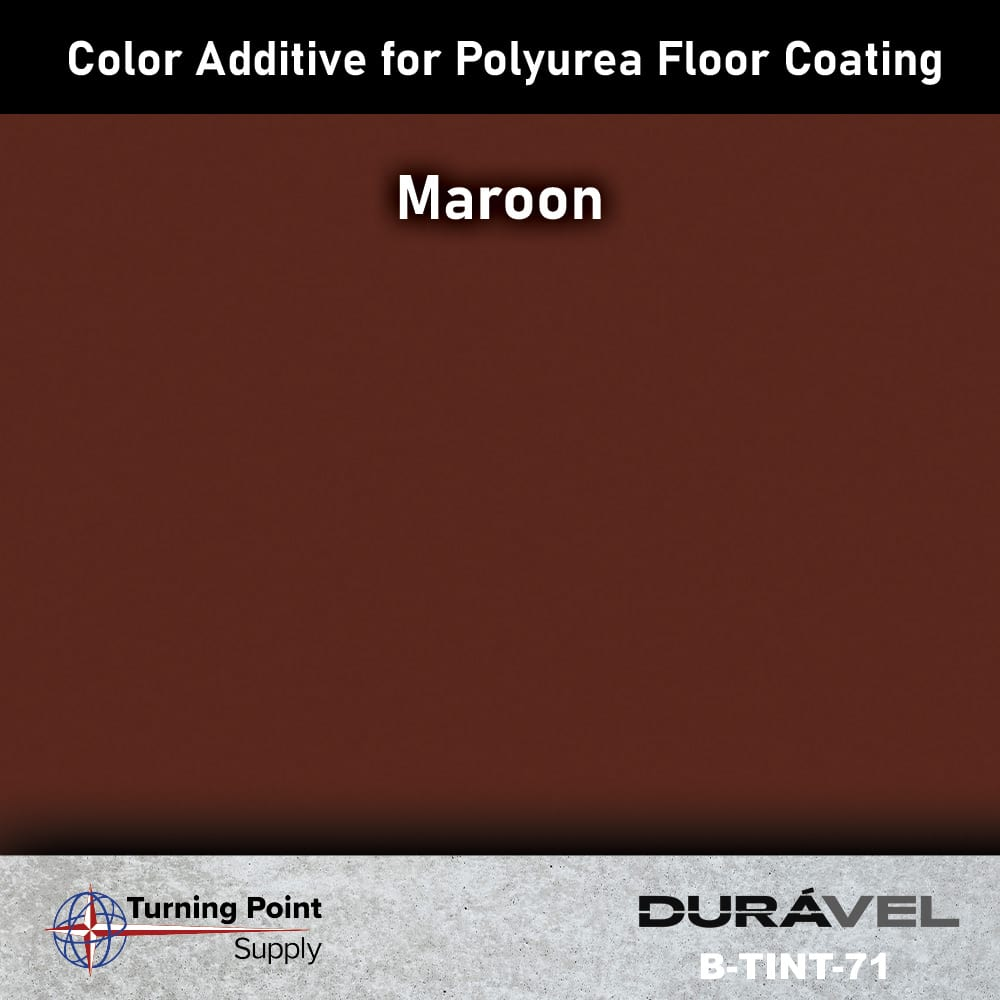 Maroon Color Additive for Polyurea Floor Coating Base-IC by Dura