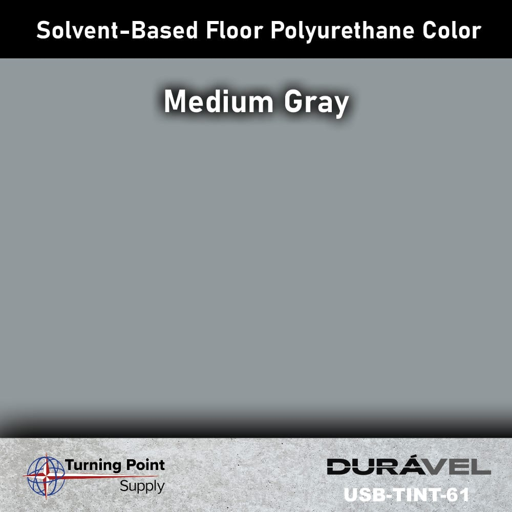 Medium Gray UV Stable Solvent-Based Floor Polyurethane Color Additive – USB-TINT by Duravel Products