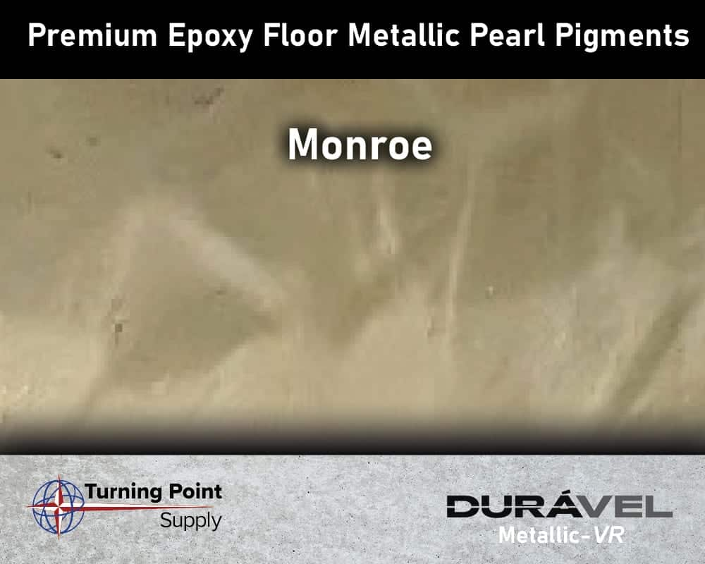 Monroe Exclusive Epoxy Floor Metallic Mica Colors - Premium Pear Pigments 20 Options