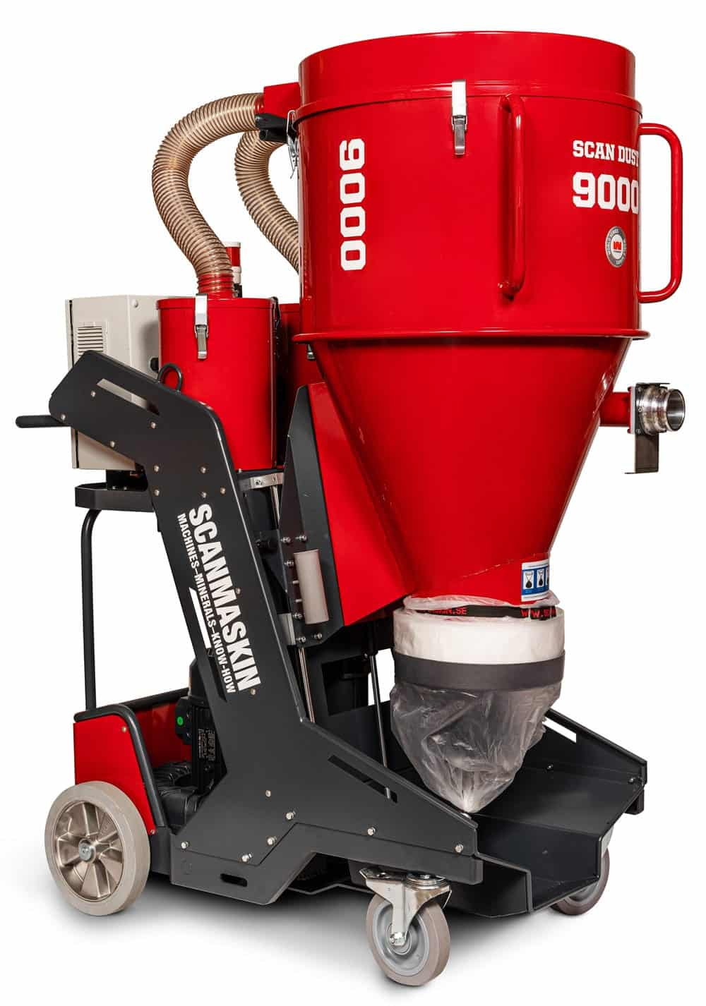 Front a Right Side  400-480 V 3~ Electric Industrial Dust Collector 9000 by Scanmaskin from Turning Point Supply
