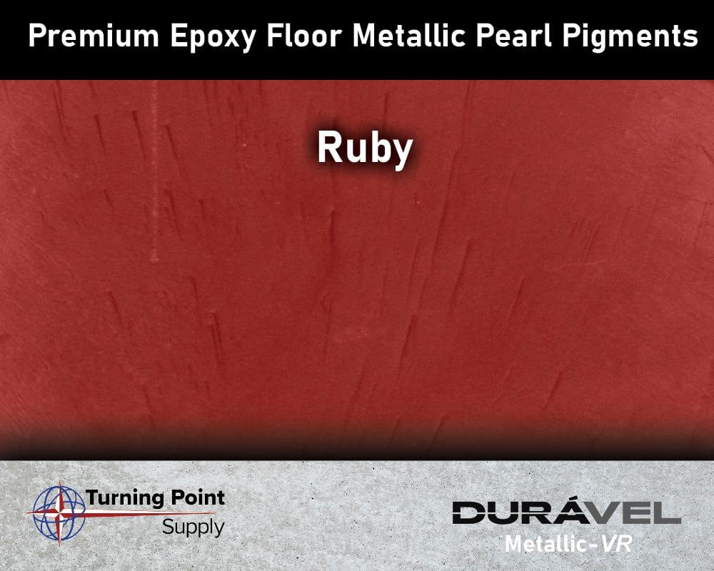 Ruby Exclusive Epoxy Floor Metallic Mica Colors - Premium Pear Pigments 20 Options