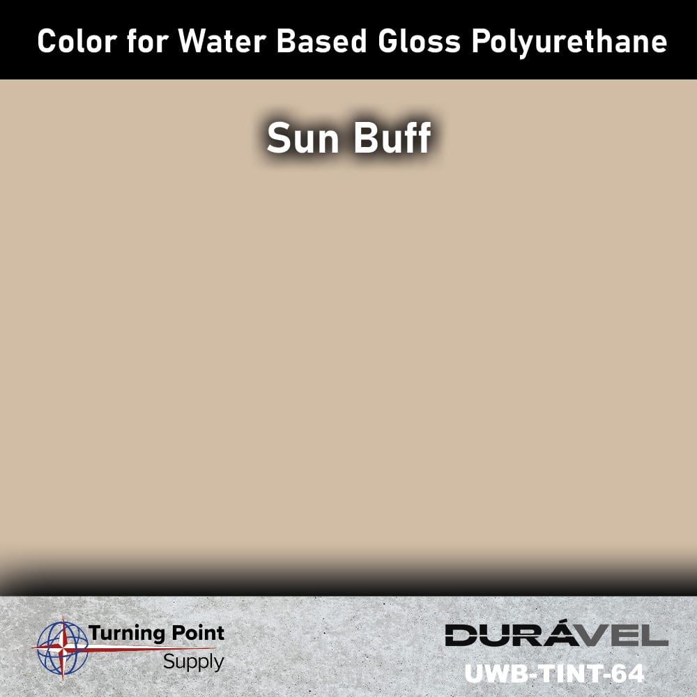 Sun Buff Color UWB-TINT is high solids pigment to be used specifically with loss floor polyurethane products. Available in six colors. Adding UWB-Tint will not alter the pot life or cure time of the polyurethane.