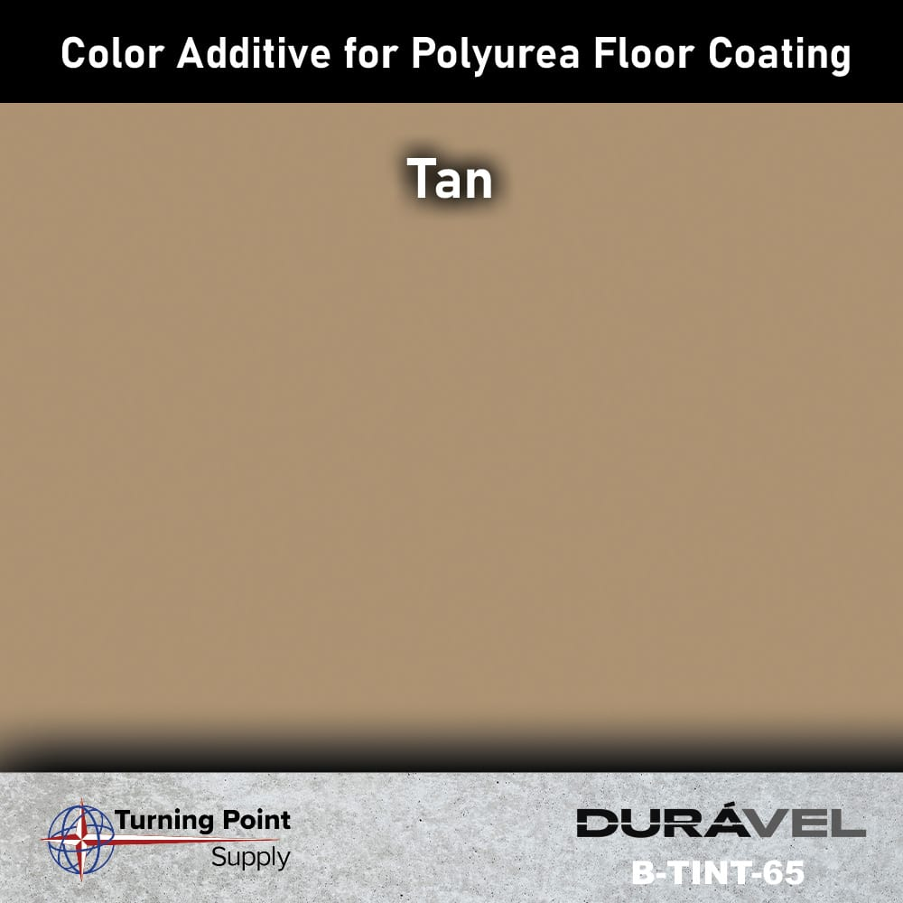 Tan Color Additive for Polyurea Floor Coating Base-IC by Duravel