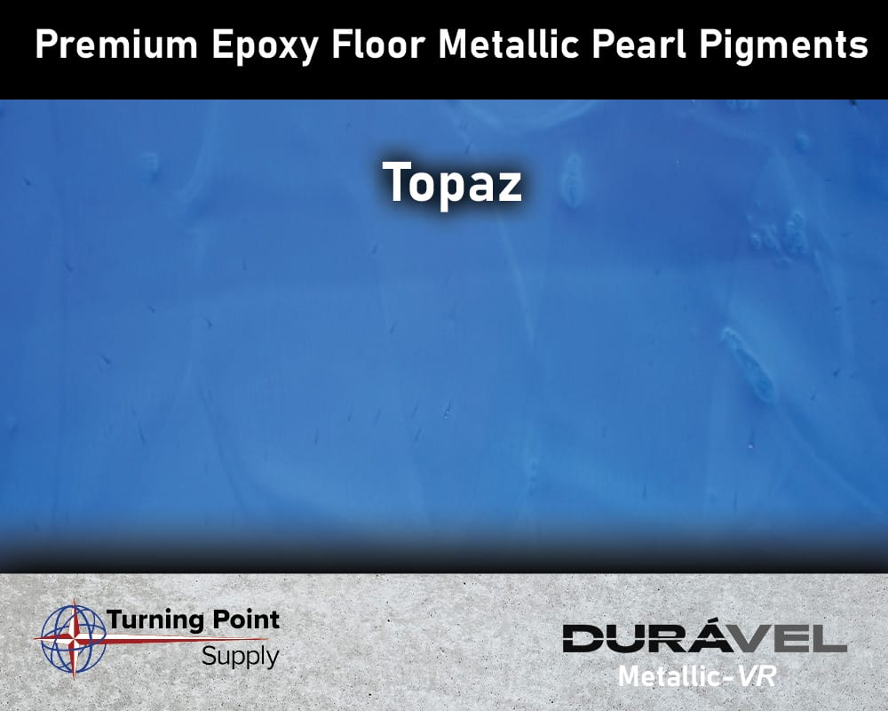 Topaz Exclusive Epoxy Floor Metallic Mica Colors - Premium Pear Pigments 20 Options