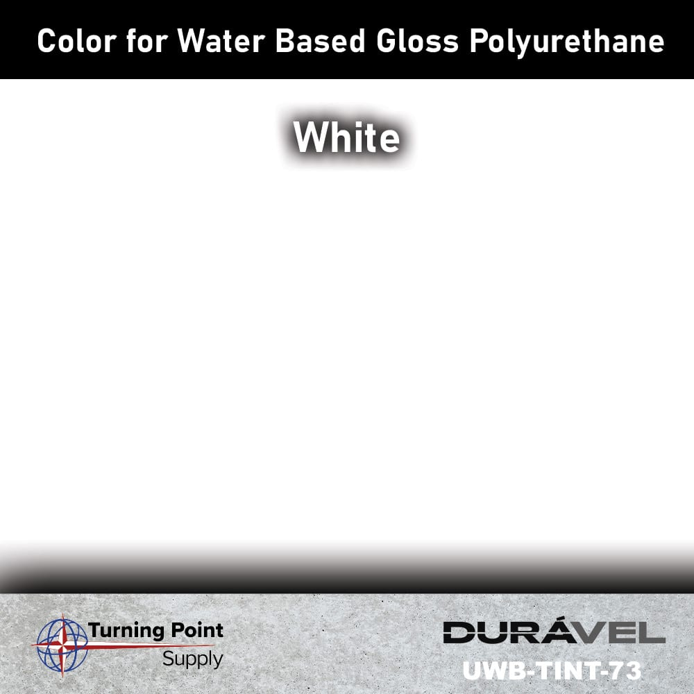 White Color UWB-TINT is high solids pigment to be used specifically with loss floor polyurethane products. Available in six colors. Adding UWB-Tint will not alter the pot life or cure time of the polyurethane.