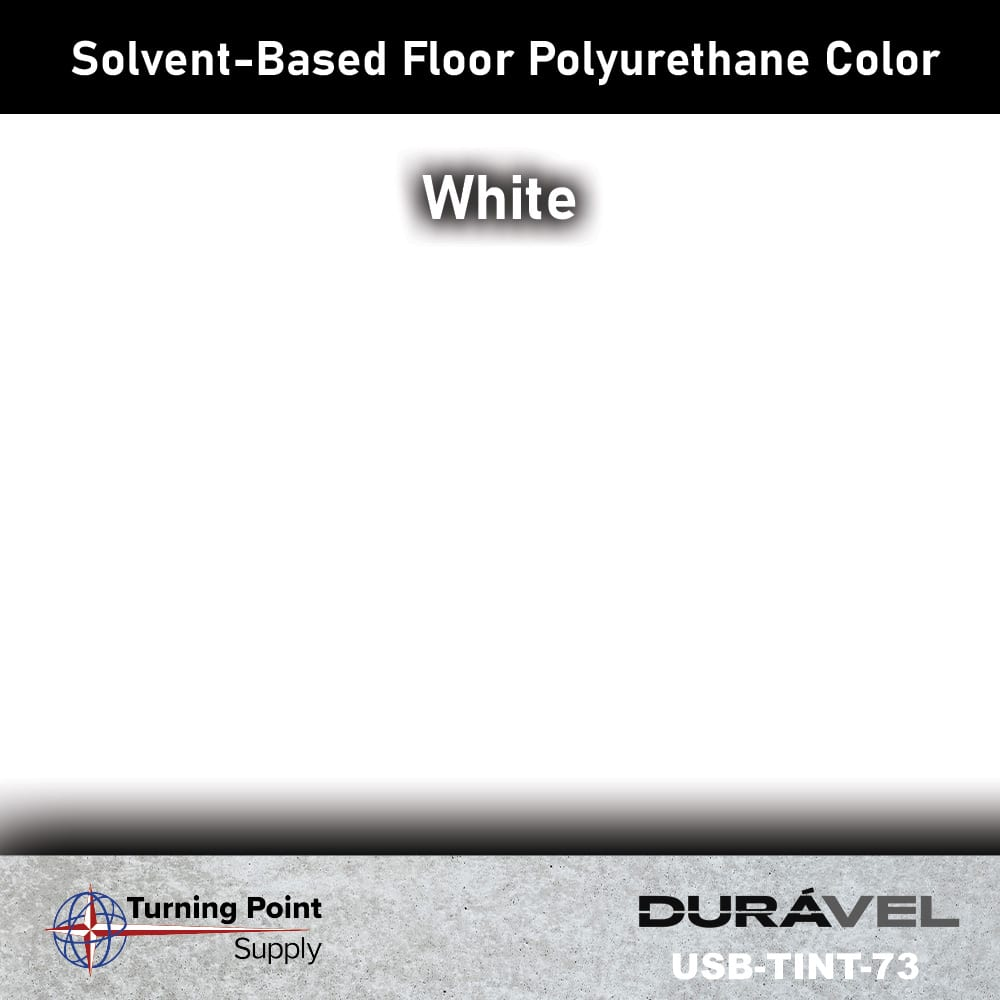 White UV Stable Solvent-Based Floor Polyurethane Color Additive – USB-TINT by Duravel Products