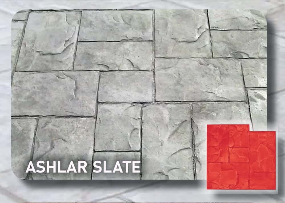 Ashlar Slate Concrete Stamp