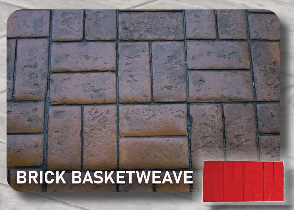 Brick Basketweave Stamp-Concrete-Mat