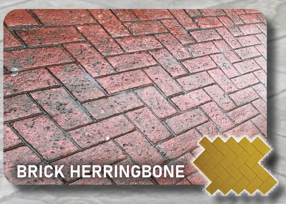 Brick Herringbone-Concrete Stamp Mat