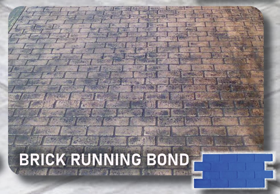 Brick Running Bond-Concrete Stamp Mats