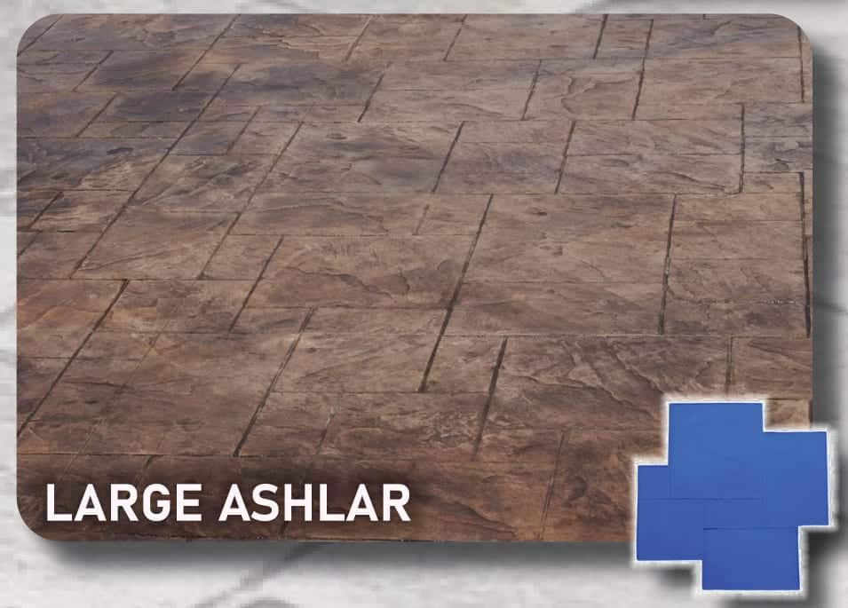 Large Ashlar Slate Stamp for Concrete