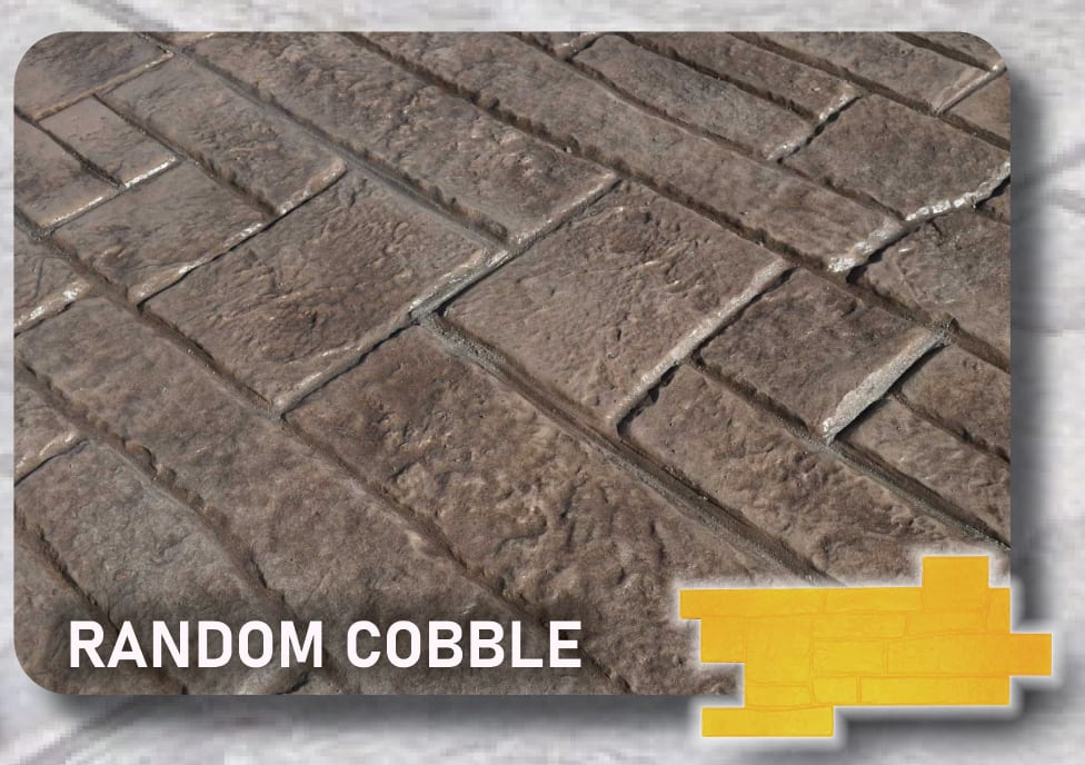 Random Cobble Concrete Stamps