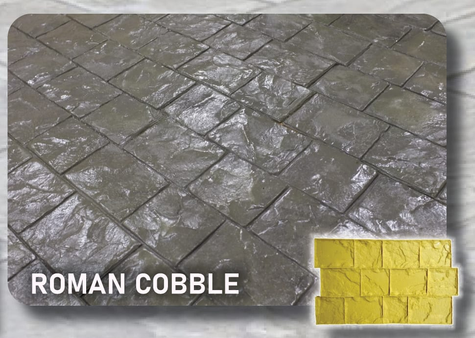 Roman Cobble Concrete Stamp Mat