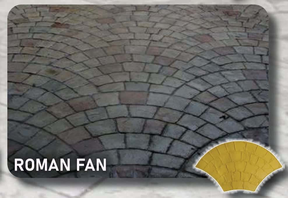 Roman Fan Concrete Stamp Mats