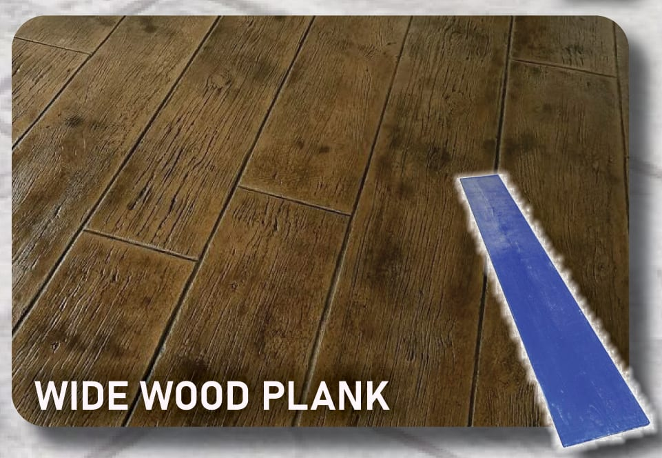 Wide Wood Concrete Stamp Plank Mats