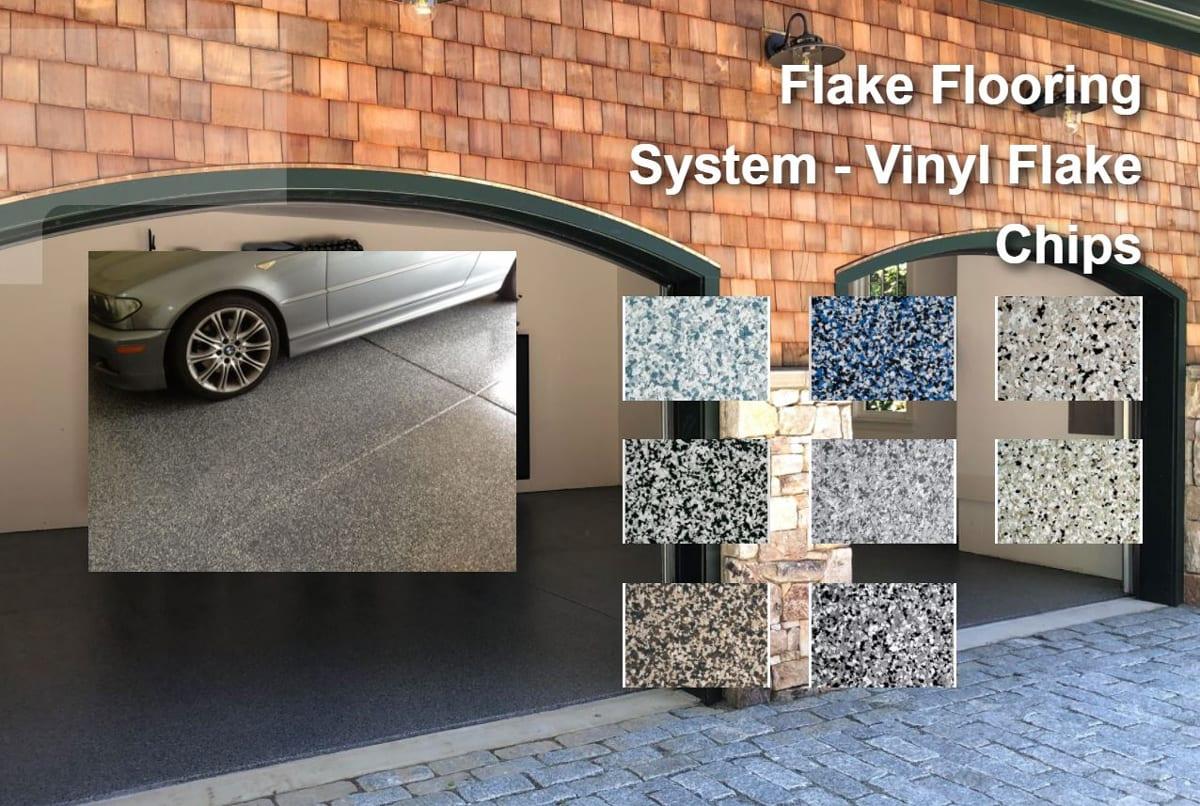 Flake Flooring System - Flake Color Blends