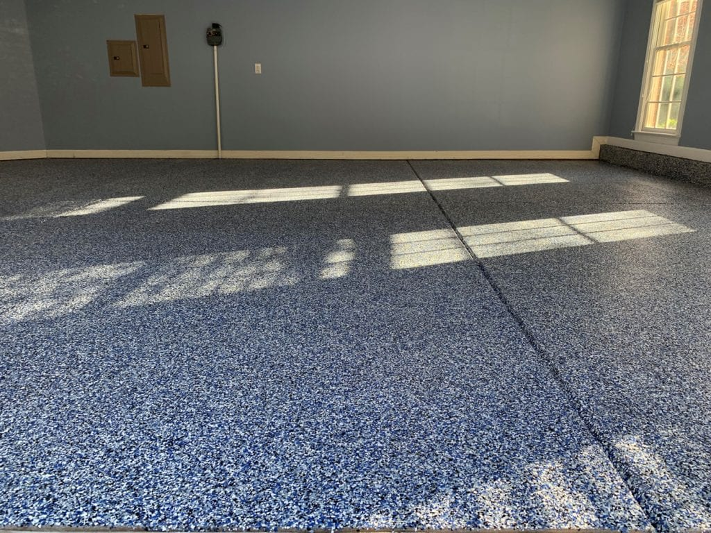 Garage Floor Using Flake Floor Products