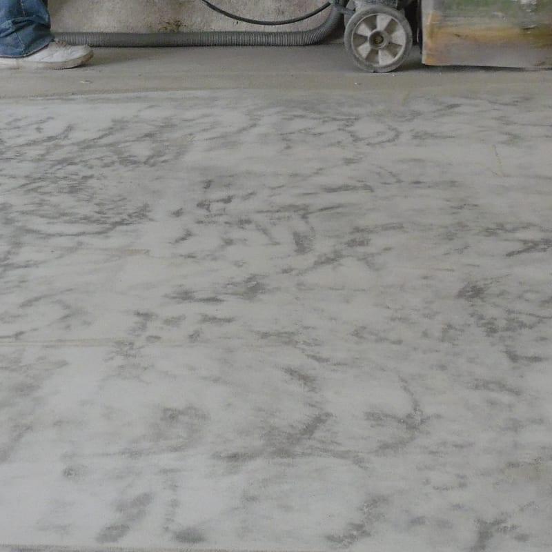 Grinde Garage Floor for Flake Flooring