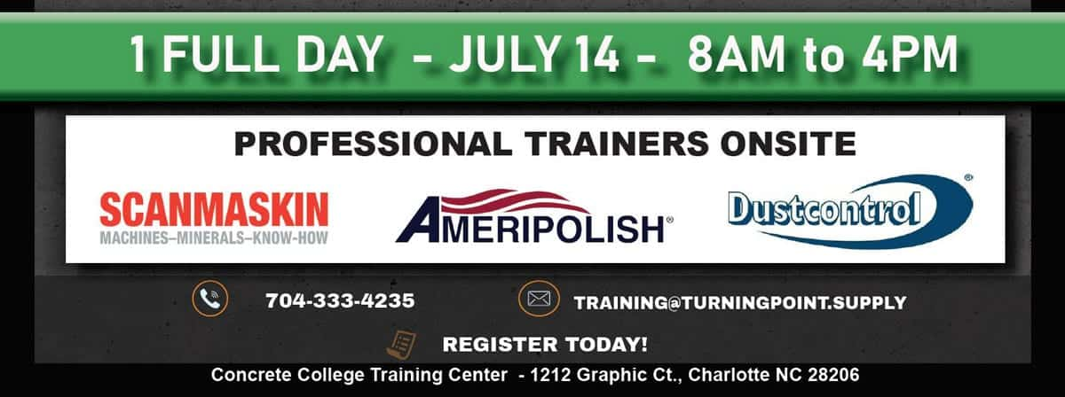 Training by Scanmaskin- AmeriPolish DustControl